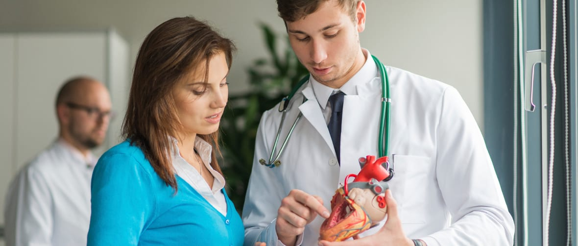 doctor consult patient with heart problems