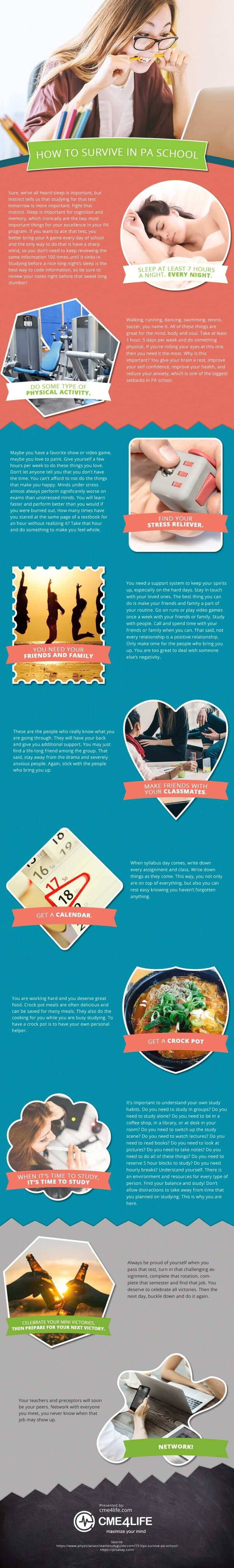 How to Survive in PA School [infographic]